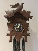 Antique Working Regula Black Forest Germany Musical 3 Weight Cuckoo Wall Clock