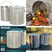 Bayou Classic 1182 82-qt Stainless Steel Stockpot With Perforated Basket
