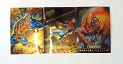 1995 Fleer Ultra Spiderman Masterpieces Inset Cards 3, 5, 6 Of 9 - Mint
