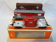 3 Lionel O Gauge Freight Train Cars With Boxes Including Over Stamp Mark 6-19287
