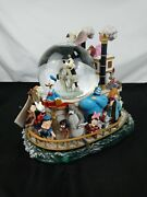 Walt Disney Mickey Mouse And Friends Steam Boat Snow Globe Extremely Rare Mickey
