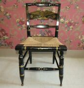 Ethan Allen Hitchcock Chair Hand Decorated Black Eagle Side Chair 14-6110