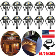 35mm Warm White Led Deck Step Stair Light Outdoor Yard Lighting Low Voltage Kit