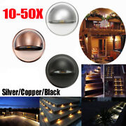 10/20/30/50pcs 12v Led 35mm Warm White Deck Rail Step Stairs Outdoor Path Lights