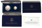 1987 Us Constitution 2 Coin Commemorative Proof Set Gold Silver Ogp