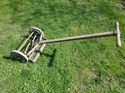 Vintage Rotary Push Reel F And N Lawn Mower With Iron Wheels