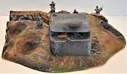 Atherton Scenics Painted Wwii Trench With Concrete Bunker Right End Cap