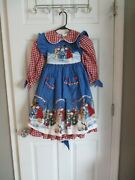 Vintage Daisy Kingdom Factory Made Heaven And Nature Pinafore Dress Size 4