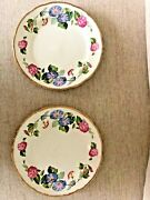 Two-embassy Ware Fondeville England Morning Glory Pattern 8214 7.5d Plates