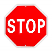 Stop Sign Street Slow Warning Reflective Signs 12x 12 40 Mil Rust Free Sign