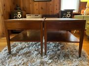 Set Of Vintage Mid Century American Of Martinsville Travertine End Tables Mcm