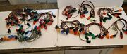 8 Set Lot Of C7 1 String C9 Vintage Used Christmas Lights Strings With Bulbs