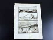 18 Th Century Old Gravur Engraving Farm Farmers Old Work Tools Technique