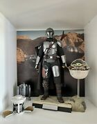 Fr Star Wars - Hot Toys Tms015 - The Mandalorian And The Child Deluxe 1/6 .
