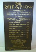 1970s The Rifle And Plow Rare Wooden Restaurant Food Menu Pittsburgh Hilton