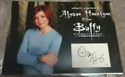 Alyson Hannigan Signed Mounted Piece Willow Buffy Acoa