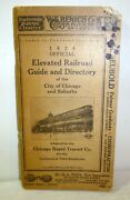 1924 Elevated Railroad Guide And Directory Of Chicago, The L Subway, History