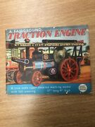 Giant Model Books Traction Steam Engine Card Cut Out Model 1950's V Rare