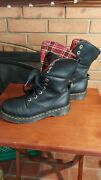 Dr. Martens Aunt Sally Red Plaid Lining Aimilita Boots Size 8 Doc Martens