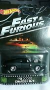 Hot Wheels Retro Entertainment Fast And Furious 70 Dodge Charger R/t