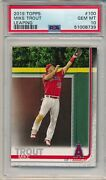 2019 Topps Mike Trout Leaping 100 Psa 10 Gem Mint Angels