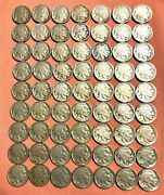 198 Nickels Coins From 1883-1983, 30 V-nickels, 105 Jefferson,63 Buffalo Nickels