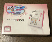 Brand New Nintendo 2ds Peach Pink Disney Mickey's Magical World Limited Edition