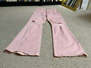 Womenand039s Mother Superior Pink Jeans Flared Bell-bottoms 25w X 27l Distressed