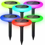 Colorize Solar Lights Outdoor - Colorful Pathway Solar Light 6 Lights Decorative