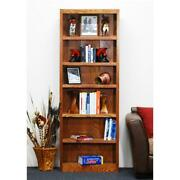 Concepts In Wood Single Wide Bookcase 6 Shelves Dry Oak Finish