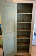 Antique 87 Chimney Cupboard 6 Shelves Square Head Nails Solid Construction