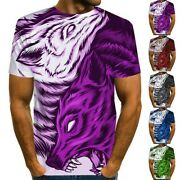 Casual T-shirt Crew Neck Ferocious Muscle M2xl Printed Sport Tees Hot
