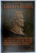 Original Abraham Lincoln World War One Poster - Near Mint Copy - 1917 Or 1918