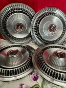 4 Classic Vintage 1966 Ford T Bird Thunderbird Hubcaps Wheel Cover Center Caps