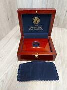2009 Us Ultra High Relief Double Eagle - Mahogany Wood Box With Book - No Coin