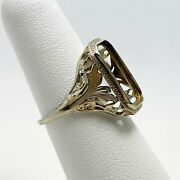 1930and039s Art Deco 14k White Gold Ring Mount 5148