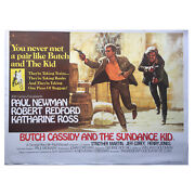 Butch Cassidy And The Sundance Kid 1969 Extremely Rare 40x30 Uk Quad Poster