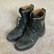 Harley-davidson Mens Motorcycle Riding Boots Size 11 Leather
