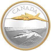 2021 Canada Avro Arrow Gold Plated Silver 5 Oz Coin - Mint Fresh And In Stock