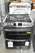 Lg Lte4815bd 30 Black Stainless Slide In Double Oven Electric Range Nob 111561