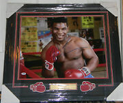 Mike Tyson Signed Photo Auto 16x20 Framed And Matted Psa Dna Coa Kid Dynamite