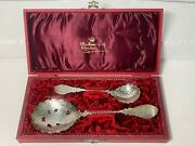 Antique Van Kempen And Son 833 Engraved W Twisted Handles Silver Spoon Set Holland