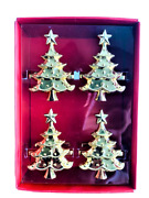 Lenox Holiday Gold Christmas Tree Napkin Rings Set Of 12 New In The Box