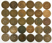 Set Of 30 Indian Head Pennies From The 1900s 1900-1909