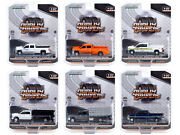 Dually Drivers Series 6 Set Of 6 Trucks 1/64 Diecast Cars By Greenlight 46060