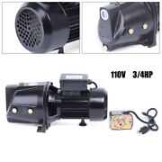 3/4 Hp Shallow Well Jet Pump W/ Pressure Switch Self-priming Water Pump 110v New