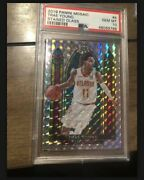 2019-20 Panini Mosaic Trae Young Stained Glass Silver Prizm Psa 10 Gem Mt Hawks
