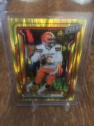 2019 Panini National Vip Baker Mayfield Gold Prizm 6/10 Jersey Browns 1/1