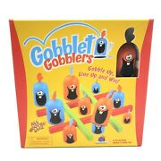 Gobblet Gobblers Strategy Board Game Ages 5 And Up Wooden Pieces Blue Orange
