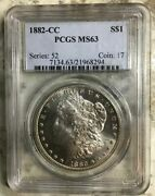 1882-cc 90 Silver Morgan Dollar Pcgs Certified Mint State 63